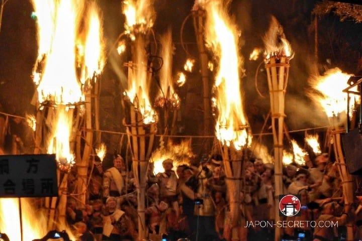 Festival de fuego en Kioto, Japón. Imagen: Japón Secreto