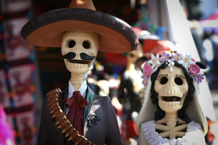 Todos celebramos a la huesuda.Foto.Turistas Mexicanos.1