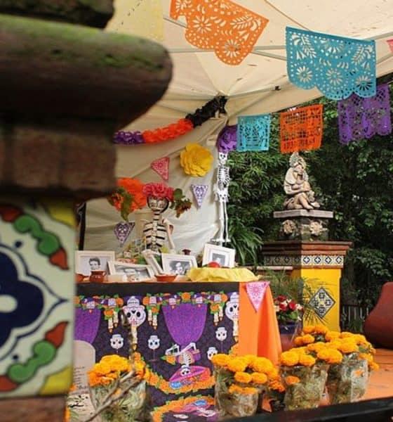Tradicional Festival de Vida y Muerte de Xcaret. Ofrenda. Imagen. Ana Karla Aguilar