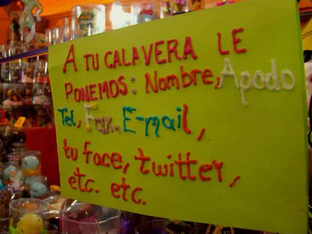 anuncio de calaveras Foto Jorge Nava