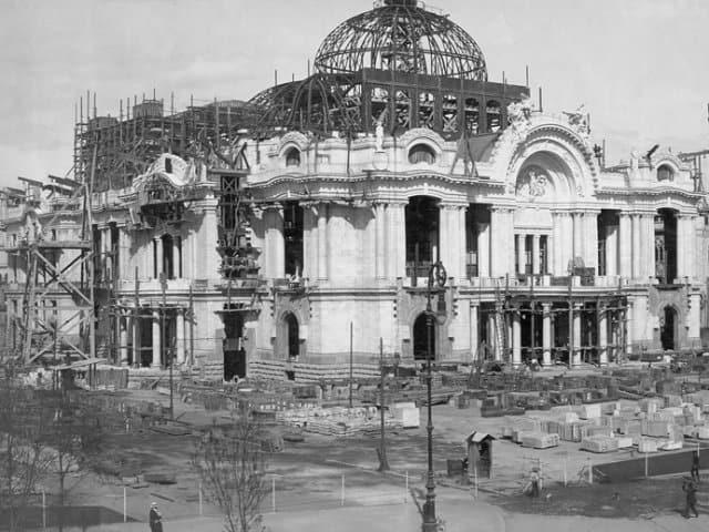 palacio de bellas artes construccion