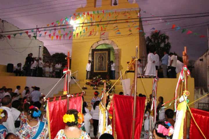 Celebraciones cada diciembre a la Virgen de Guadalupe.Foto. Acanceh Yucatán.9