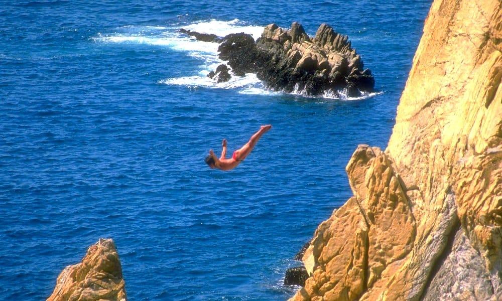 La quebrada, Acapulco. Imagen. Yo sí creo en México. 2