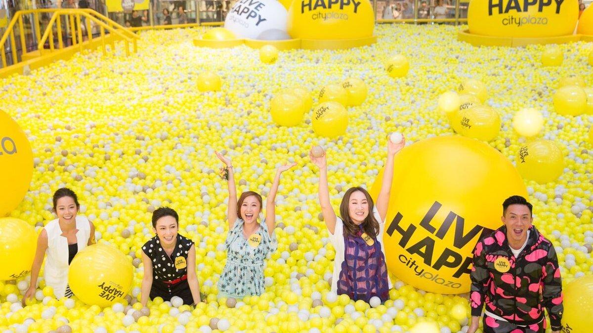 Live happy city plaza.