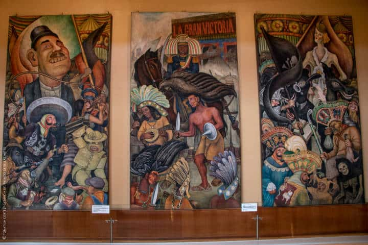 Murales en el Rincón del tiempo. CDMX. Foto: Tonatiuh Cortés