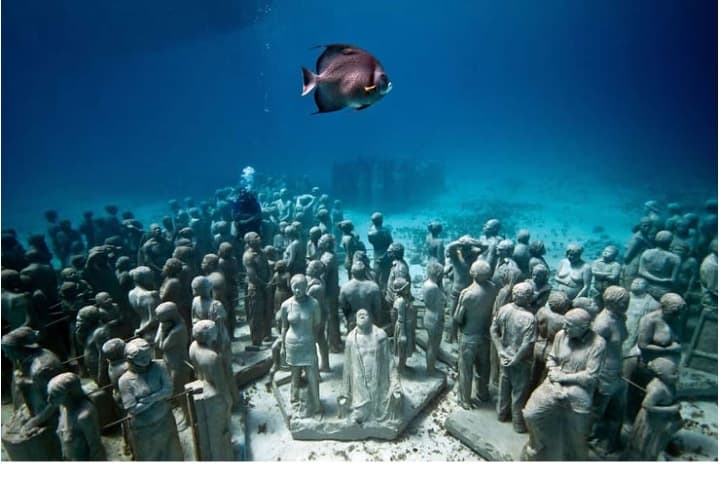 Museo Subacuático, Cancún. Imagen. Quiero Cancún.