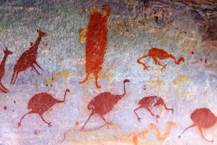 Pinturas rupestres. Imagen: Chico Ferreira.