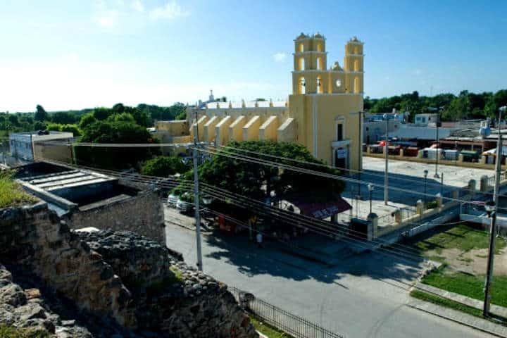 Plaza central de Acanceh.Foto.Hotel Casa Azul.4