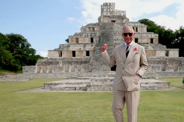 Príncipe Carlos de Inglaterra visita Edzná.Foto.Quien.13