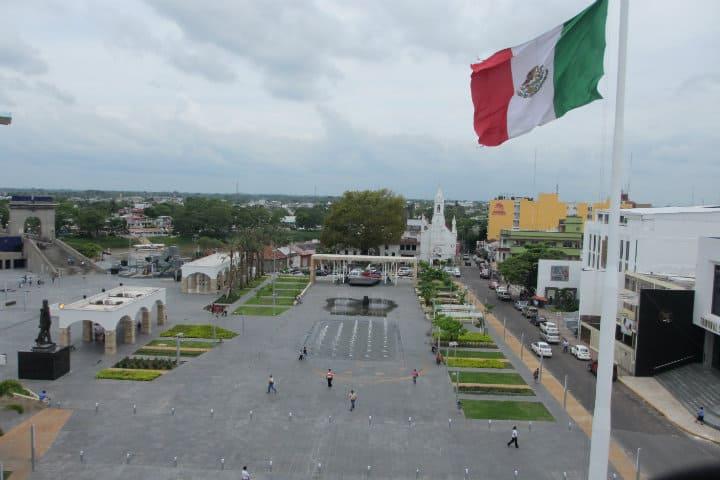 PLaza de armas de Villahermosa. Imagen; Tabasco. Archivo