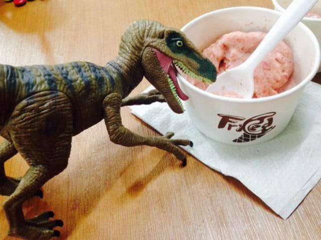 fried ice dinoaurio