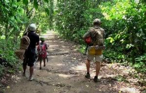villa luz caminata selva
