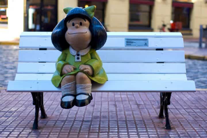 Monumento a Mafalda. Imagen: Argentina. Archivo
