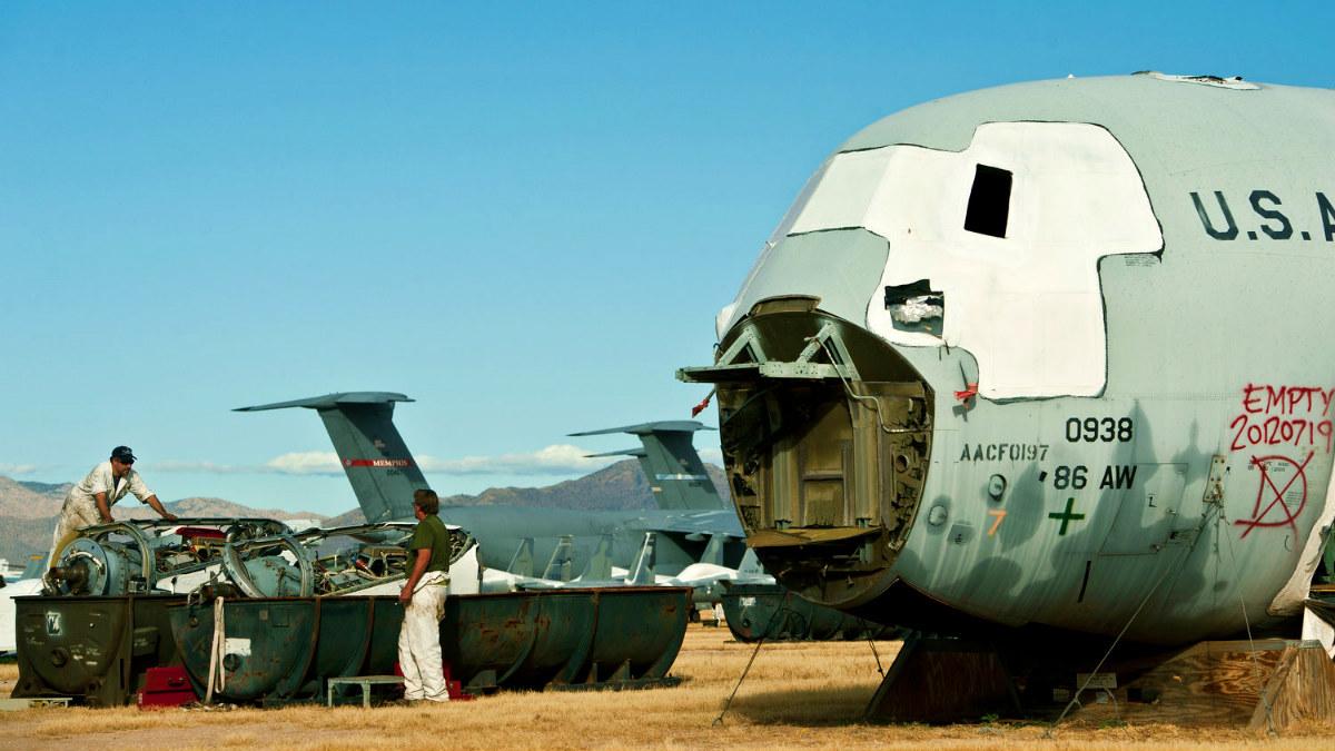 Cementerio de aviones más grande del mundo Foto Airman Magazine