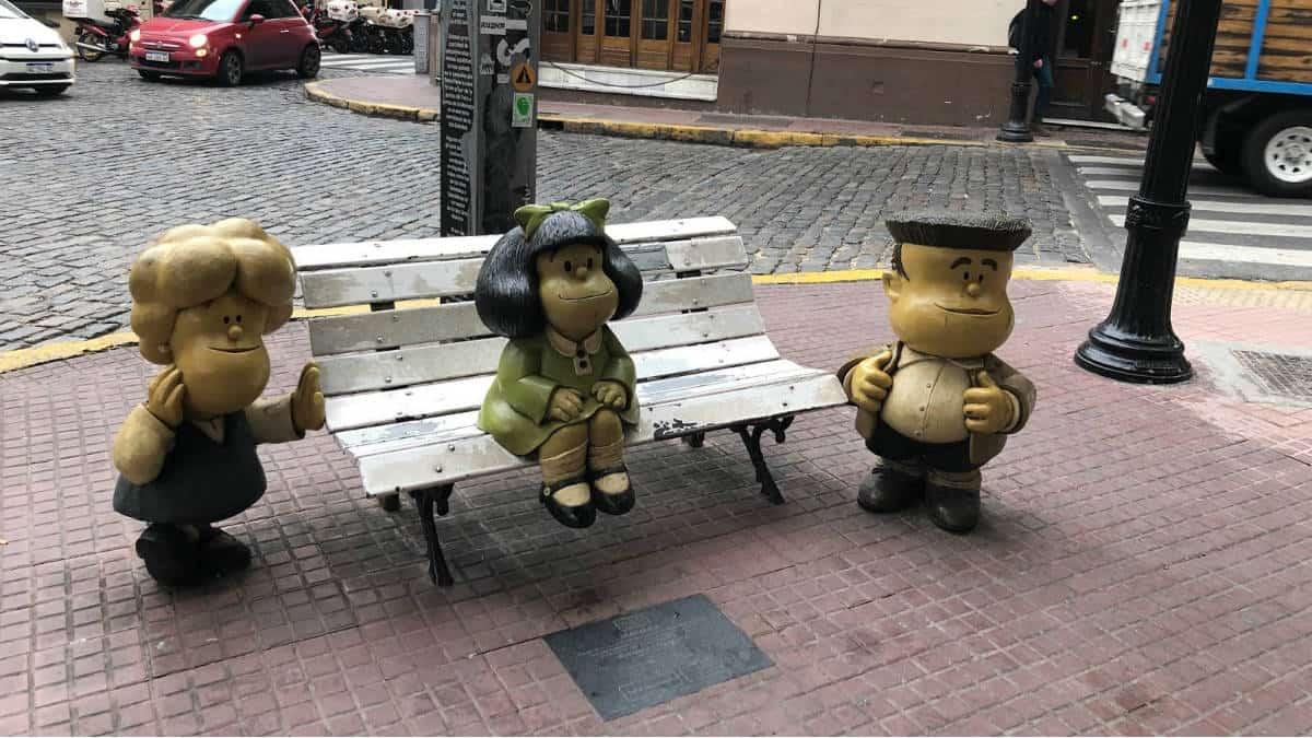 Monumento a Mafalda. Imagen: Buenos Aires. Archivo