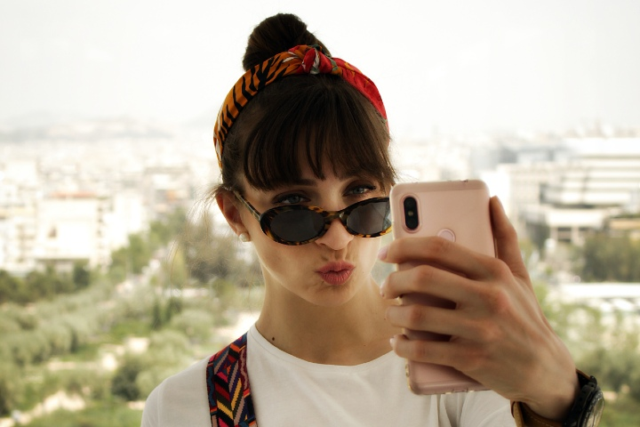 Selfie de viaje por el mundo