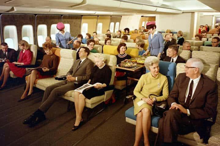 Volar en avión en los 70's. Foto Archivo 3