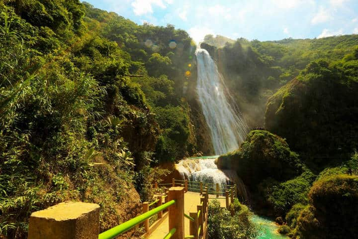 Las cascadas el chiflón. Imagen: Chiapas. El Universal