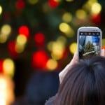 fotografiando arbol navidad