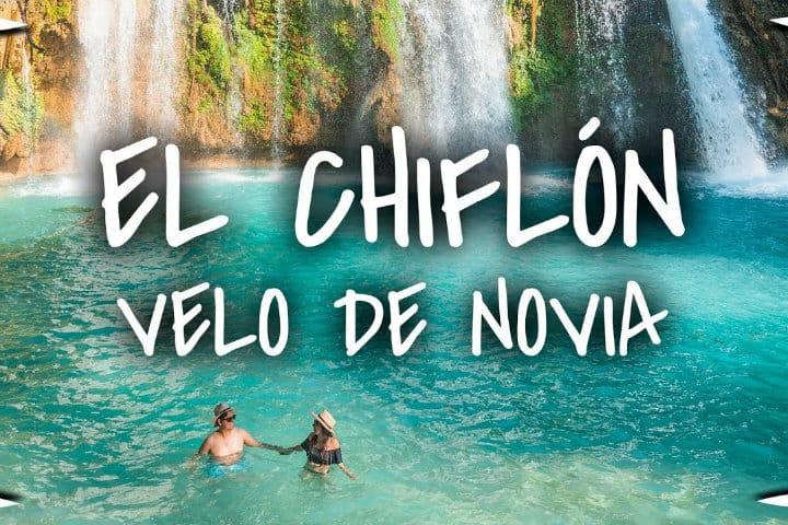 Cascada velo de novia. Imagen: Chiapas. Archivo