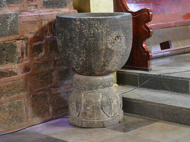 santa caratrina piedra bautizmal