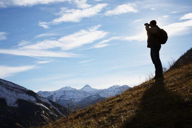 viajero montaña