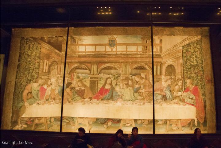 Aquí todos estaban reunidos con Jesús durante la última cena Foto Giacinto Lo Meo