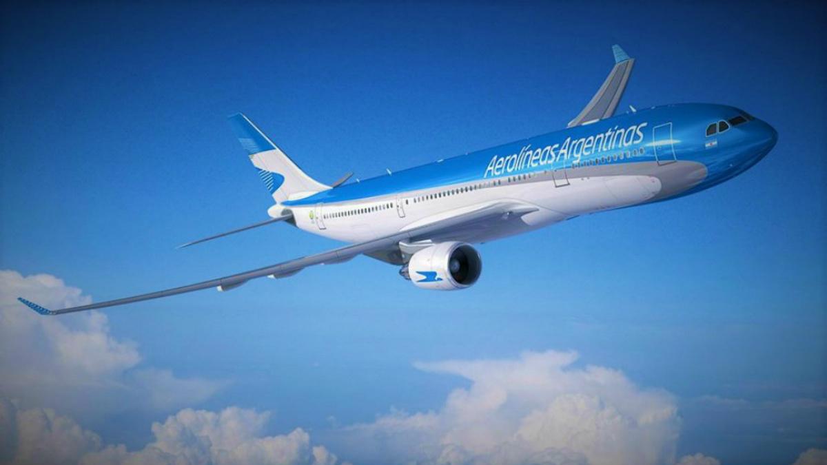 Comercial de Aerolíneas Argentinas Foto Archivo