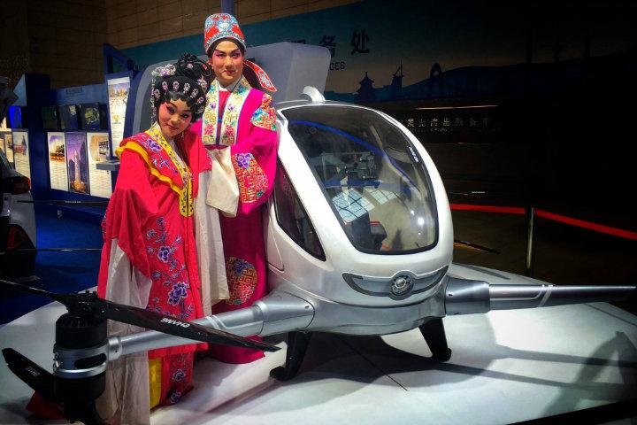 Ehang 184 el dron y transporte mas novedoso Foto por EHANG