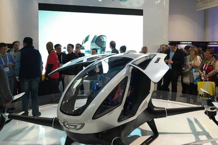 Presentación oficial del Dron gigante chino, Ehang 184 foto por EHANG