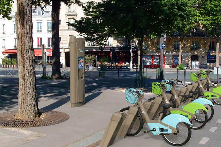 Encuentra la estación de renta de bicicletas más cercana a los lugares que quieres recorrer Foto Vélib' Metropole