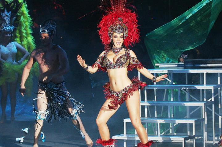 Varios artistas famosos forman parte de este Carnaval de Campeche Foto Maribel Guardia