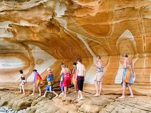 acantilados pintados tasmania