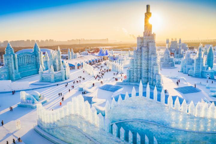festival de esculturas de hielo