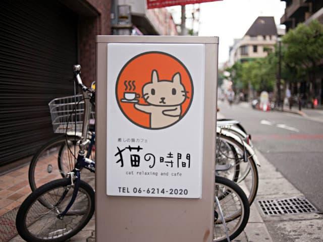 letrero cat cafe