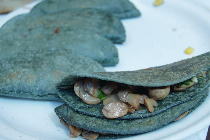 Huasca, quesadillas de hongos