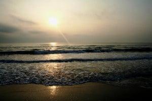 dunas del sabanal atardecer mar