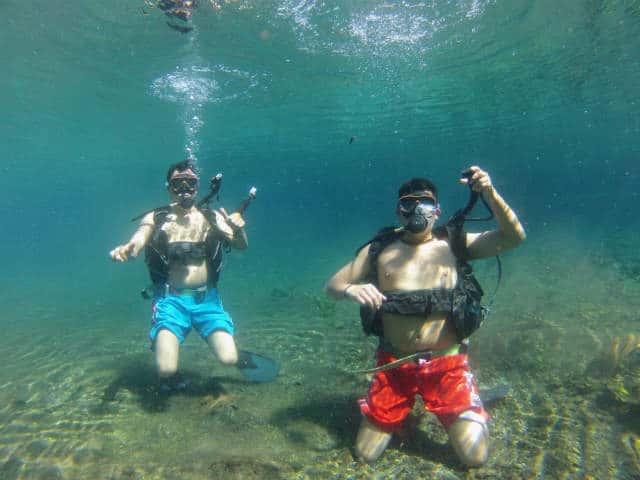 laguna media luna buceo primera inmersion