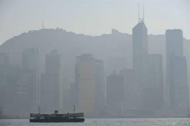 Hong Kong contaminación. Foto. Archivo 2