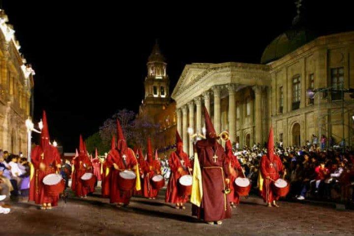 Procesión del Silencio en San Luis Potosí. Foto Archivo 2