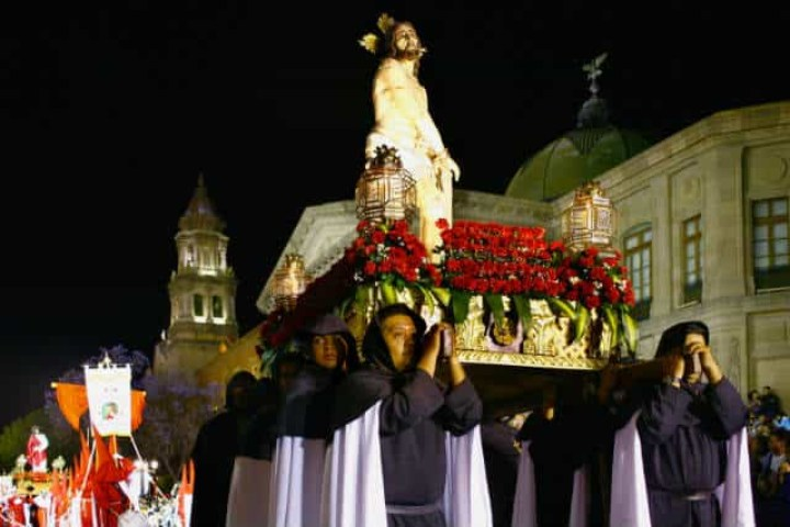 Procesión del Silencio en San Luis Potosí. Foto: Archivo