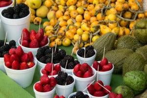 los azufres frutas