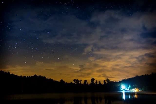 los azufres laguna larga noche estrellada