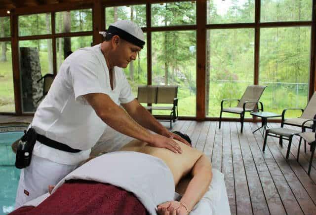 Quinta los azufres masaje. Foto: Archivo