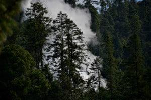 los azufres vapor de agua caliente