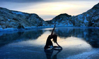 patibadora sobre hielo