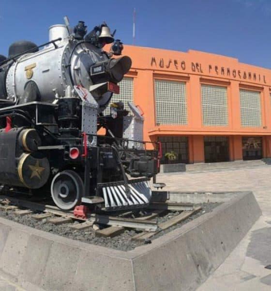 Museo de ferrocarril en San Luis Potosí. Portada. Imagen. Archivo