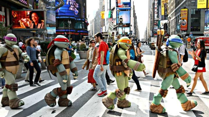 tortugas ninja promueven NYC