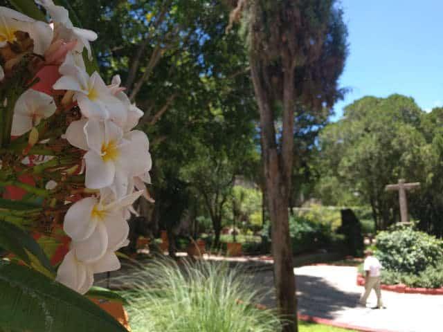Jardín de la hacienda. Foto: Archivo