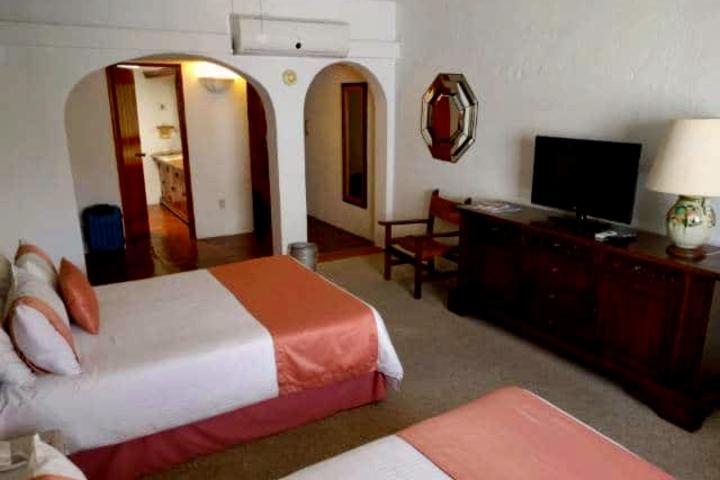 Hermosas habitaciones de la Hacienda San Gabriel. Foto: Archivo